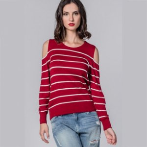Blusa tricot leve ombros vazados biamar