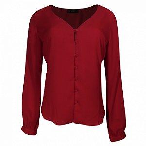 Camisa crepe kesses vermelha