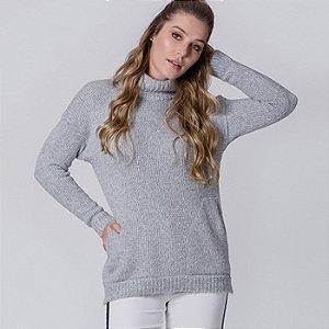 Blusa em tricot gola alta dupla biamar
