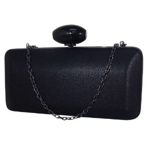 Bolsa clutch com alça opcional preta