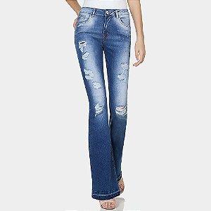 Calça jeans flare malibu destroyed lez a lez
