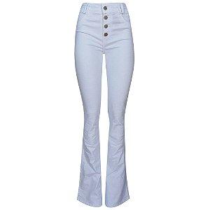 Calça jeans color flare camili dimy branca