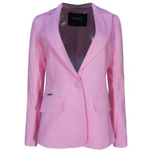 Blazer em linho trappiche cor rosa