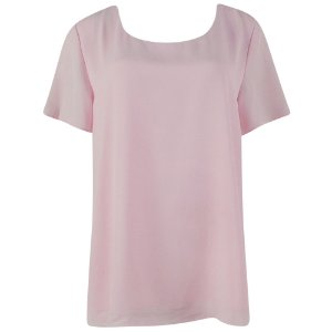 Blusa em crepe rose cotton colors extra - tamanhos grandes