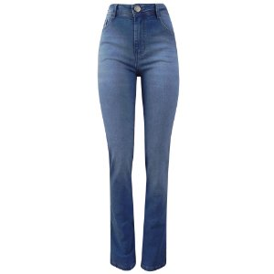 Calça jeans reta adele dimy