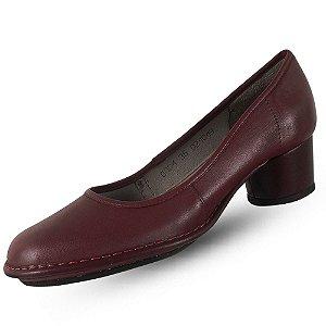 Sapato em couro baixo salto j. gean dual confort