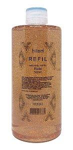 Refil Sabonete Líquido Rubi c/ glitter - 500ml Herbo