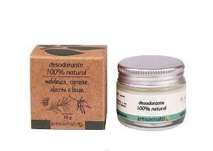 Desodorante natural Melaleuca, Cipestre, Alecrim e Litsea - 33gr Ares de Mato