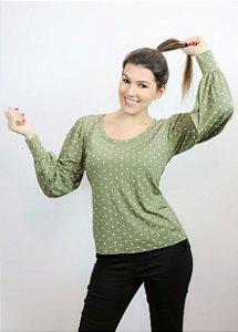Blusa feminina verde P