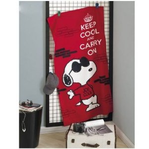 Toalha de Banho Velour Snoopy