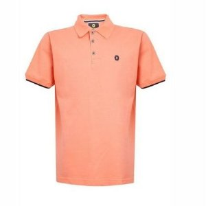Camisa Polo Bordado Laranja Manga Curta Lemon 80010