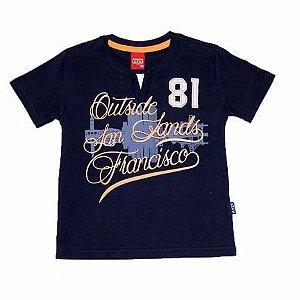 Camiseta Gola Redonda com Aplicação Estampa Manga Curta Kyly 107521