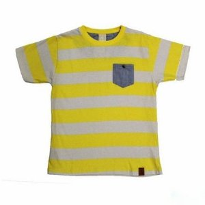 Camiseta Gola Redonda Listrada Bolso Frontal Manga Curta Colorittá 17943
