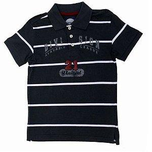 Camiseta Polo Estamapada Manga Curta Alakazoo 3060