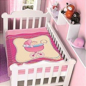 Cobertor Jolitex Infantil Berço Bebê Raschel Menina Carrinho
