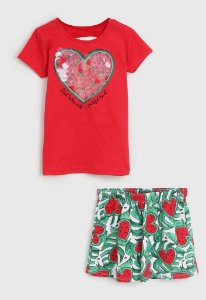 Conjunto 2 peças Kyly Curto Infantil Coração