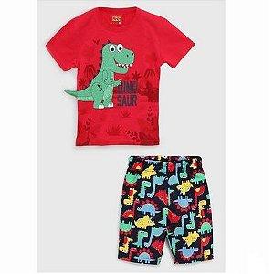 Conjunto 2 peças Kyly Curto Infantil Dinossauro 110280