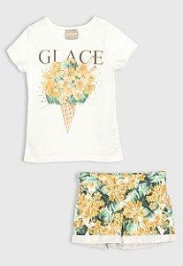 Conjunto 2 peças Milon Curto Infantil Floral