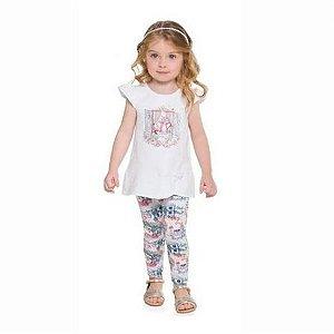 Conjunto Blusa Estampada com Legging Milon 11087