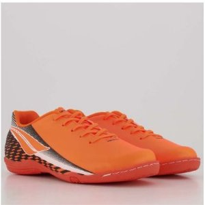 Tênis Chuteira Penalty Lider XX Futsal Laranja  Preto 1262033300