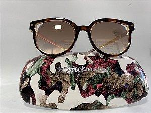 Óculos Solar Hickmann Espelhado Dourado