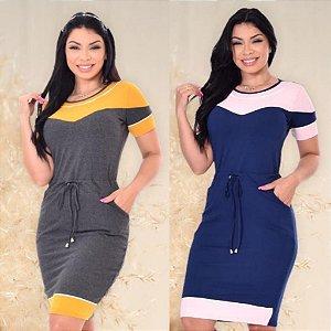 Vestido viscolycra bicolor - Dalu Store