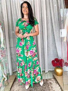 Vestido longo Viscolinho - Dalu Store