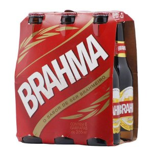 CERVEJA BRAHMA LONG NECK 355ML C/ 6 UN