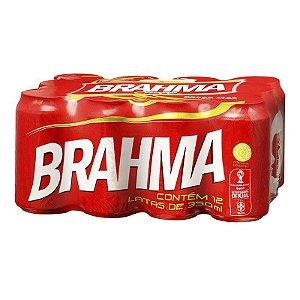 CERVEJA BRAHMA LATA 350ML FARDO COM 12 UN