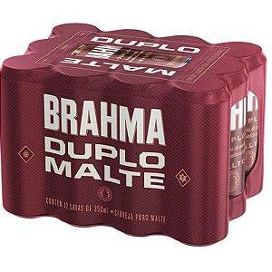 CERVEJA DUPLO MALTE BRAHMA LATA 350ML FARDO COM 12