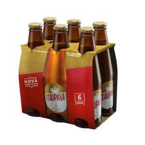 CERVEJA ITAIPAVA LONG NECK 250 ML FARDO COM 6 UN