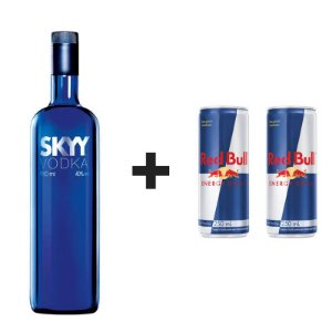 KIT 1 SKYY 1L + 2 RED BULL LATA 250ML