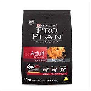Ração Pro Plan para Cachorros Adulto Raça Media - 15kg