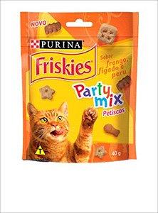 Petiscos Friskies para Gatos adultos de Frango, Fígado e Peru - 40g