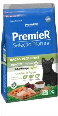 Premier Seleção Natural Cães filhotes sabor frango Raças pequenas 2,5kg