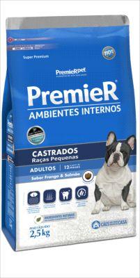 Premier Pet Ambiente Interno Cães Castrados 2,5 Kg