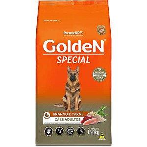 Golden Special Cães Adultos Frango e Carne 15Kg