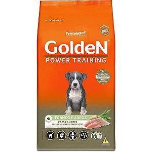 Golden Power Cães Filhotes Training Frango e Arroz 15Kg