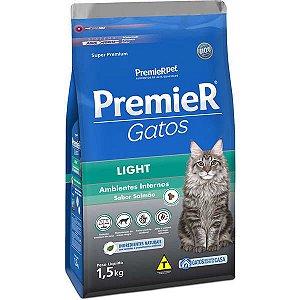 Premier Pet Gatos Ambientes Internos Light Adultos Salmão 1,5 Kg