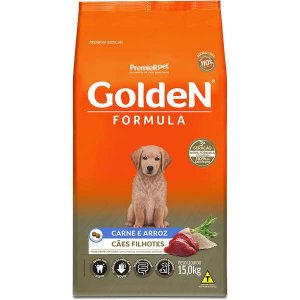 Golden Formula Cães Filhote Carne e Arroz 15Kg