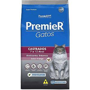 Premier Pet Ambientes Internos Gatos Castrados 7 a 12 anos - Frango 1,5 Kg