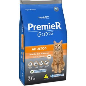 Premier Pet Gatos Ambientes Internos Adultos Frango 7,5 Kg