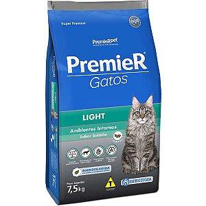 Premier Pet Gatos Ambientes Internos Light Adultos Salmão 7,5 Kg
