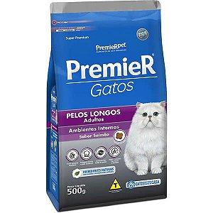 Premier Pet Gatos Ambientes Internos Pelos Longos Adultos Salmão 500 g