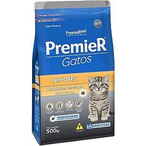 Premier Pet Ambientes Internos Gatos Filhotes Frango 500 g