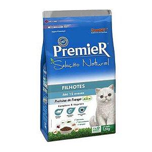 Premier Seleção Natural Gatos Filhotes Sabor Frango 1,5 Kg