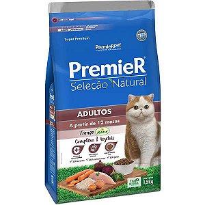 Premier Seleção Natural para Gatos Adultos Frango 1,5 Kg