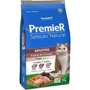 Premier Seleção Natural para Gatos Adultos 7,5 Kg