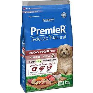 Premier Pet Seleção Natural Cães Adultos Raças Pequenas Frango Korin com Batata Doce 2,5 Kg