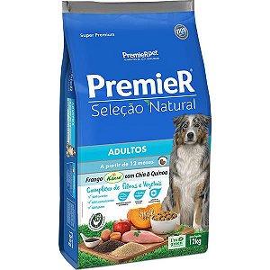 Premier Pet Seleção Natural Frango Korin com Chia & Quinoa Cães Adultos 12 Kg